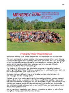 2016 'Finding Your Voice' - Welcome Manual