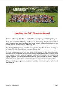 2017 'Heeding The Call' - Welcome Manual